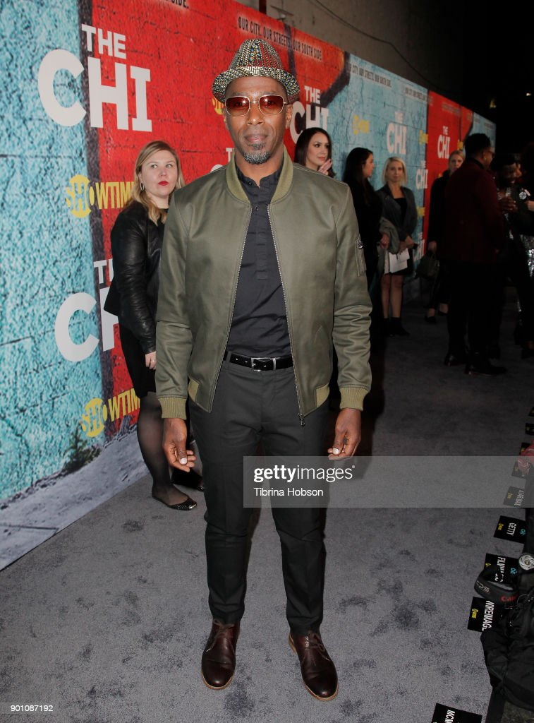 Ntare Guma Mbaho Mwine attends the premiere of Showtime's 'The Chi' at Downtown Independent on January 3, 2018 in Los Angeles, California.