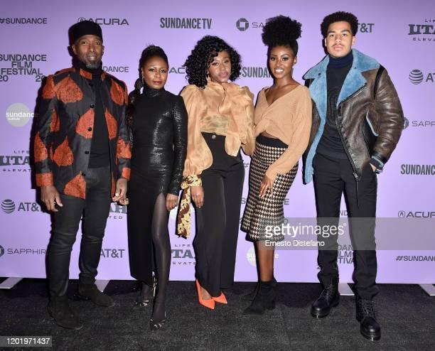 Ntare Guma Mbaho Mwine Zainab Jah Nana Mensah Jayme Lawson and Marcus Scribner attend the 2020 Sundance Film Festival Farewell Amor Premiere at...