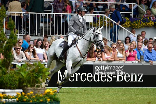 nThe German rider winner Philipp Weishaupt riding Clooney 51 the Rolex Grand Prix of Aachen in 2016nJuly 17 2016 in Aachen Germany