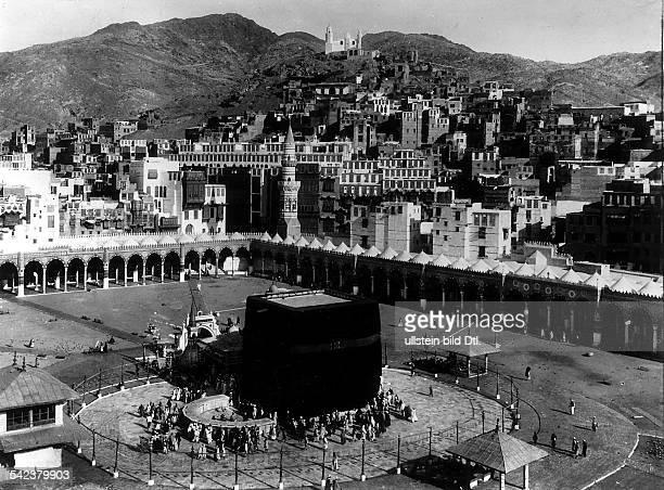 KA'BA AT MECCA /nThe sacred shrine of Islam in the courtyard of Masjid alHaram at Mecca Saudi Arabia Photograph 1927
