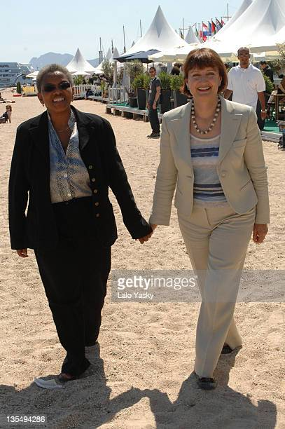 Ntombazana Gertrude Botha and Tessa Jowell during 2007 Cannes Film Festival The UK and South Africa Celebrate the New Film CoProduction Treaty at UK...