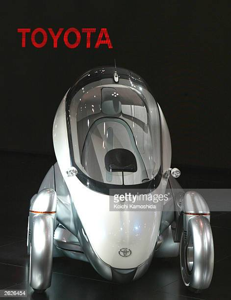 NToyota Motor Corp's electric vehicle 'PM' is seen during the 37th Tokyo Motor Show at Makuhari Messe, east of Tokyo October 22, 2003 in Tokyo, Japan.