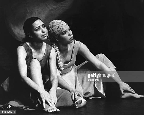 Ntozake Shange in a scene from her play For Colored Girls Who Have Considered Suicide When the Rainbow is Enuf, a seven woman ensemble that was...