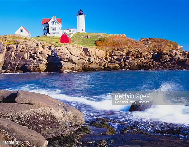 Faro Nubble y Coastine de Maine