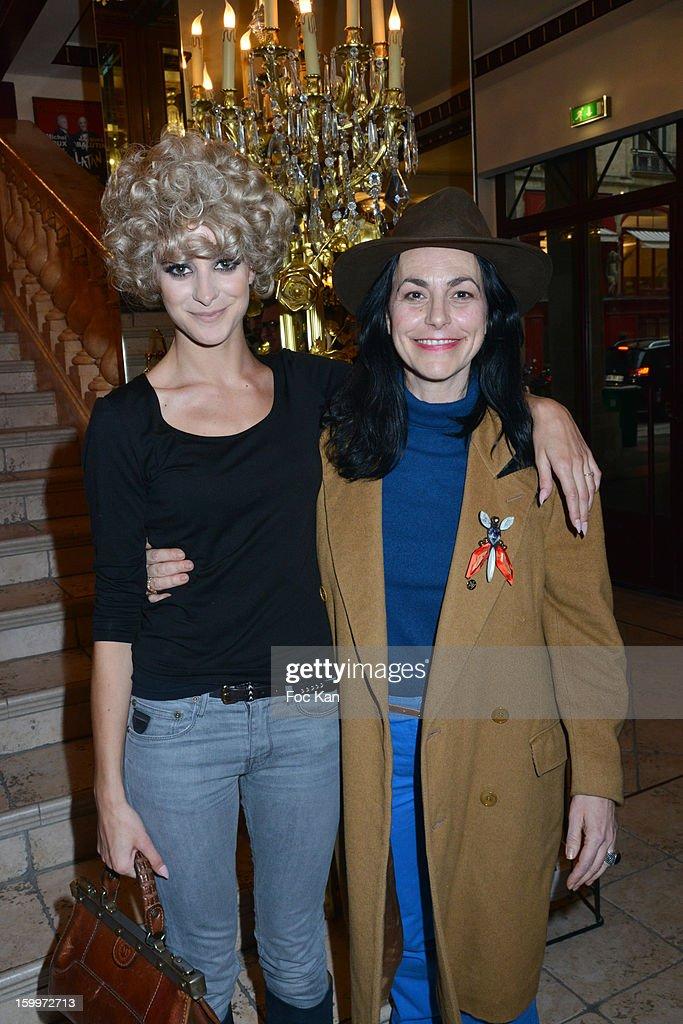 Nubia and her mother Lio (Vanda Maria Ribeiro Furtado Tavares de Vasconcelos) attend the Frank Sorbier Spring/Summer 2013 Haute-Couture show as part of Paris Fashion Week at Theatre du Palais Royal on January 23, 2013 in Paris, France.