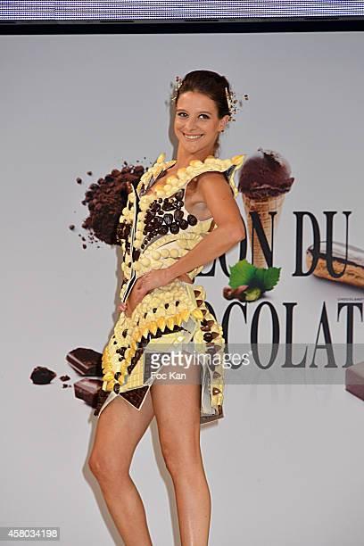 Nubia Esteban attends the 'Salon Du Chocolat Chocolate Fair 20th Anniversary' At the Parc des Expositions Porte de Versailles on October 28 2014 in...