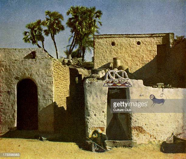 Nubian house on Elephantine Island Island on the Nile Egypt