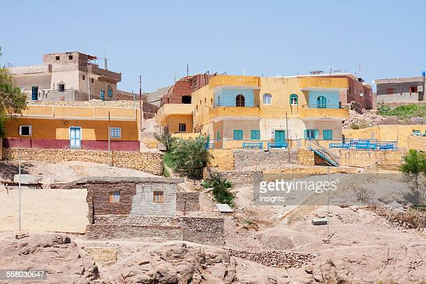 Nubian Houses On Elephantine Island Aswan Egypt