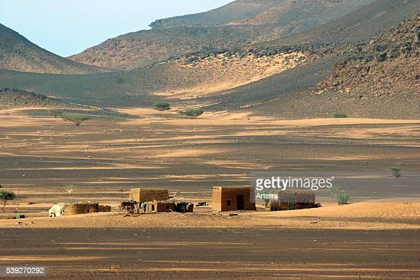 Nubian settlement in the Sudanese desert Sudan North Africa