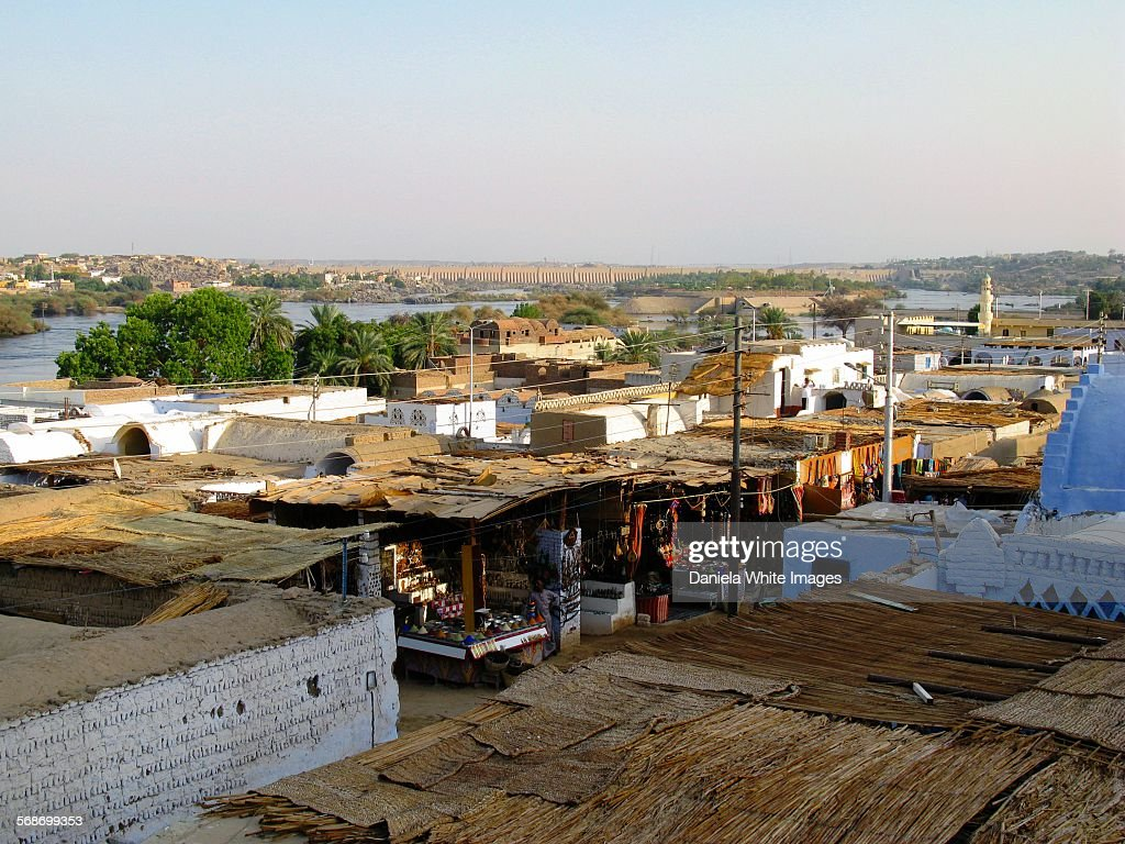 Nubian village, Egypt : Stock Photo