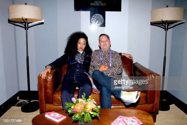 """Nubiya Brandon and Toby Coffey of """"All Kinds of Limbs"""" attend the New Frontier Press Preview during the 2020 Sundance Film Festival at New Frontier..."""