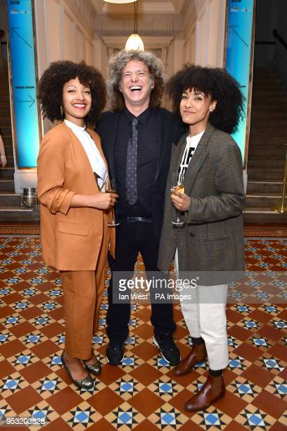 Nubya Garcia Pat Metheny and Esperanza Spalding at the Jazz FM Awards at Shoreditch Town Hall in east London