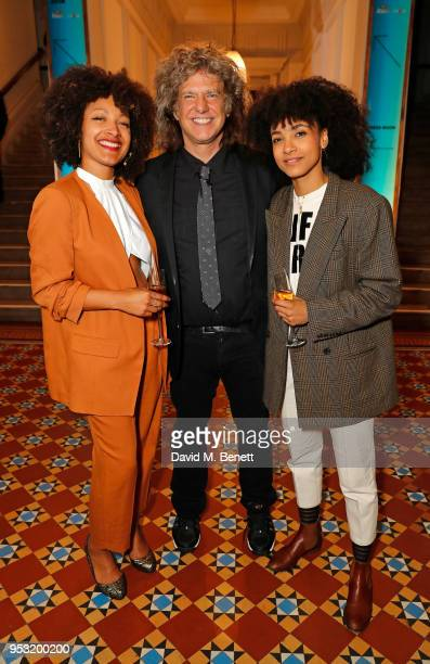 Nubya Garcia Pat Metheny and Esperanza Spalding attend the Jazz FM Awards 2018 at Shoreditch Town Hall on April 30 2018 in London England