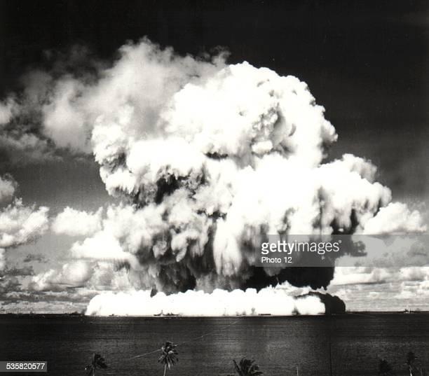 Nuclear bomb explosion in Bikini July 5 United States National Archives Washington