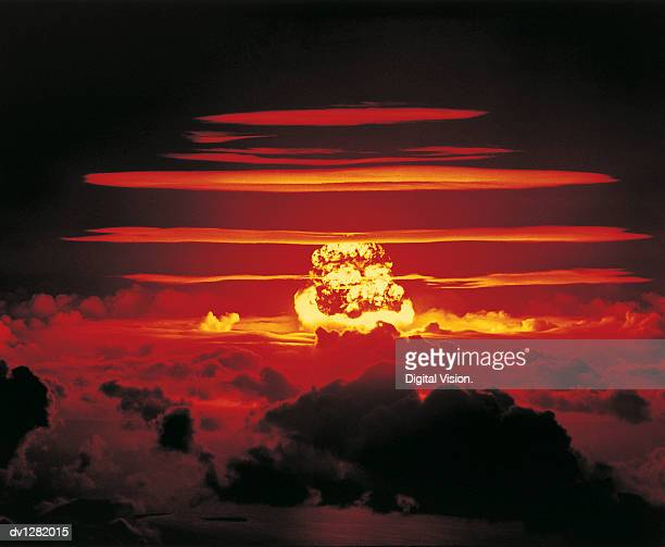 Nuclear Bomb Test, Bikini atoll and Enewetak, June 25 1956