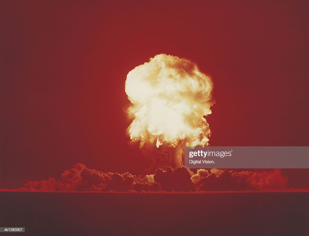 Nuclear Bomb Test, Nevada, June 18 1957 : Stock Photo