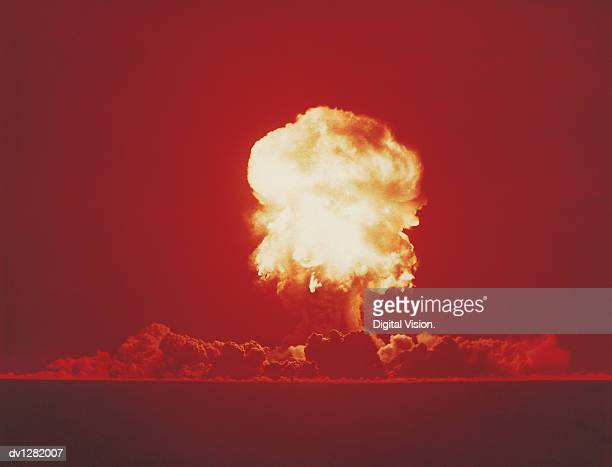 Nuclear Bomb Test, Nevada, June 18 1957