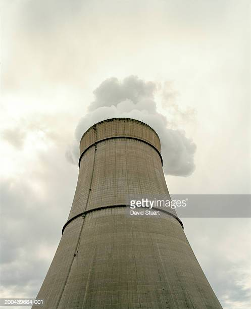 Nuclear cooling tower, low angle view