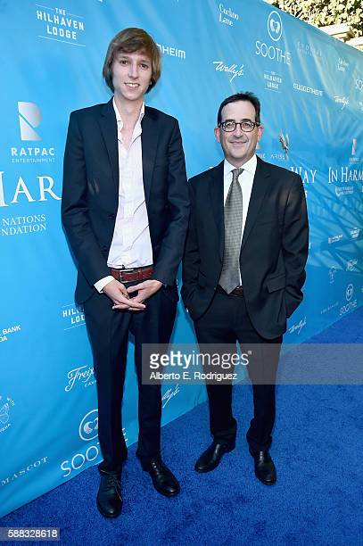 Nuclear physicist Taylor Wilson and Chief Operating Officer of RatPac Entertainment Paul Neinstein attend the special event for UN SecretaryGeneral...