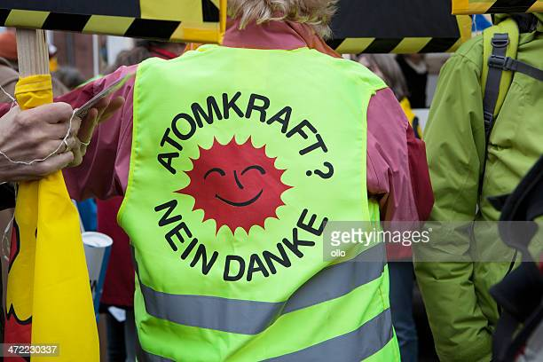 atomkraft か? nein danke - 反核運動 ストックフォトと画像