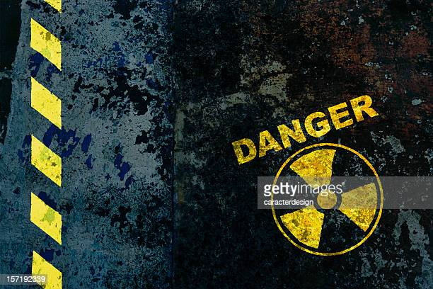 nuclear power - warning sign stock pictures, royalty-free photos & images