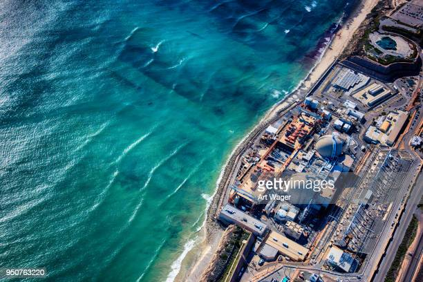 nuclear power plant aerial - nuclear power station stock pictures, royalty-free photos & images