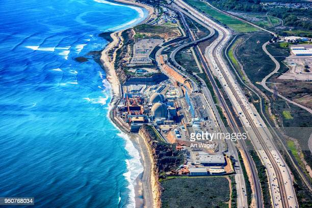nuclear power plant aerial - atomic imagery stock pictures, royalty-free photos & images