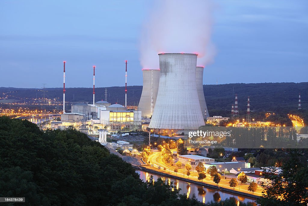 Nuclear power plant : Stock Photo