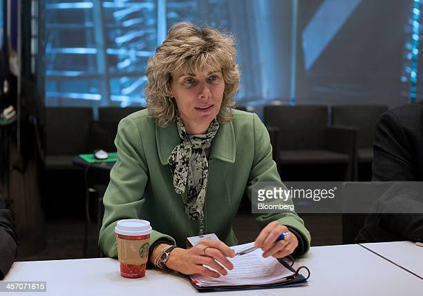 Nuclear Regulatory Commission Chairman Allison Macfarlane speaks during an interview in New York US on Monday Dec 16 2013 There's only so long people...