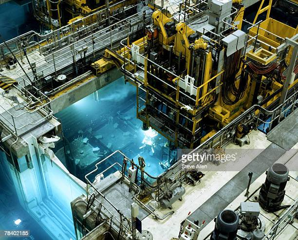 nuclear reprocessing plant - nuclear power station stock pictures, royalty-free photos & images