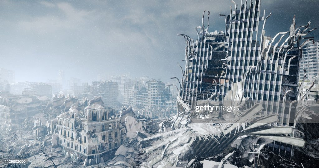 Nuclear Winter Urban Landscape : Stock Photo