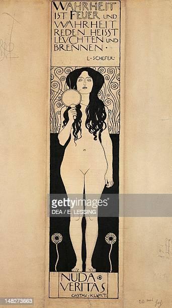 Nuda Veritas by Gustav Klimt ink on paper Vienna Historisches Museum Der Stadt Wien