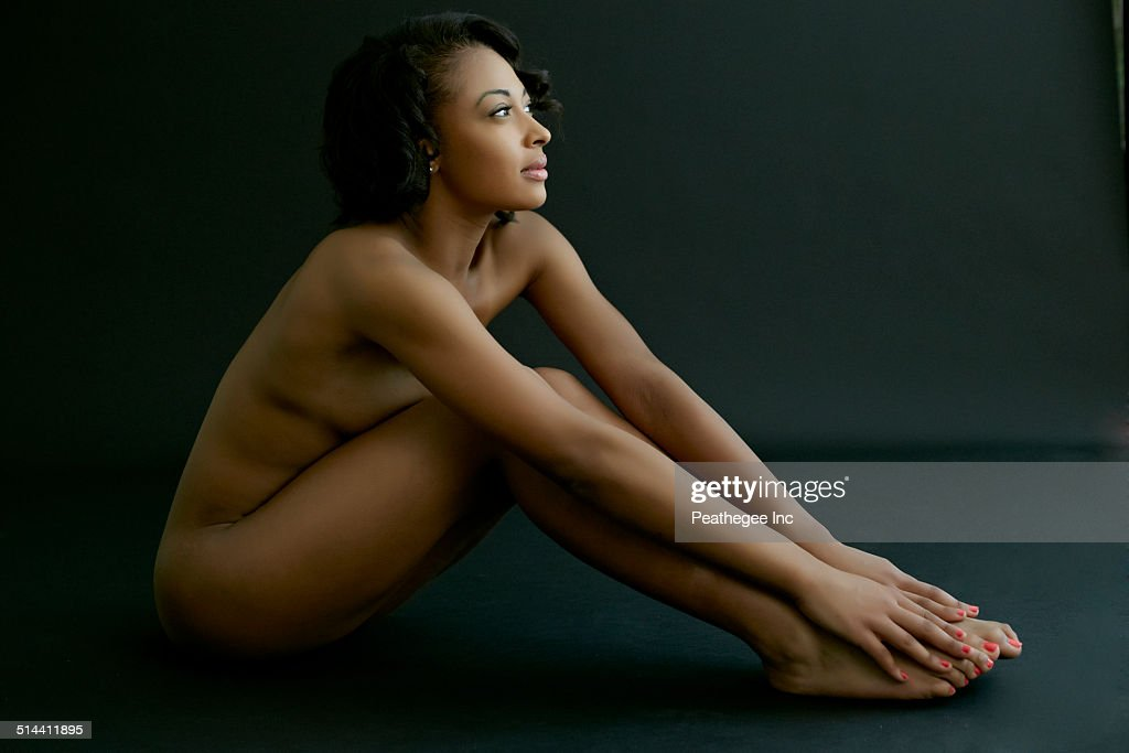 Naked with hot face
