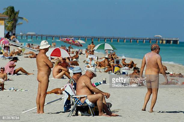Nude Beachgoers at Haulover Beach
