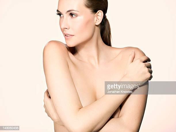 Nude beauty portrait, looking away