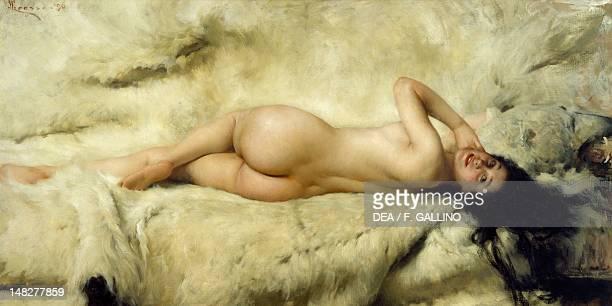Nude by Giacomo Grosso 101x203 cm Turin Galleria Civica D'Arte Moderna E Contemporanea