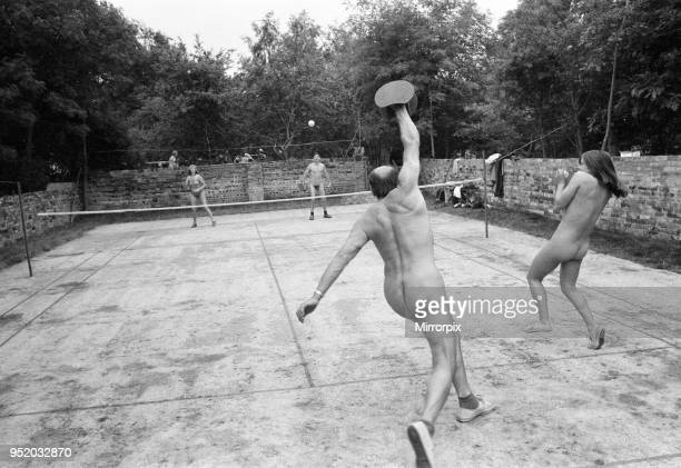 Nude couple enjoy a game of tennis 18th June 1975