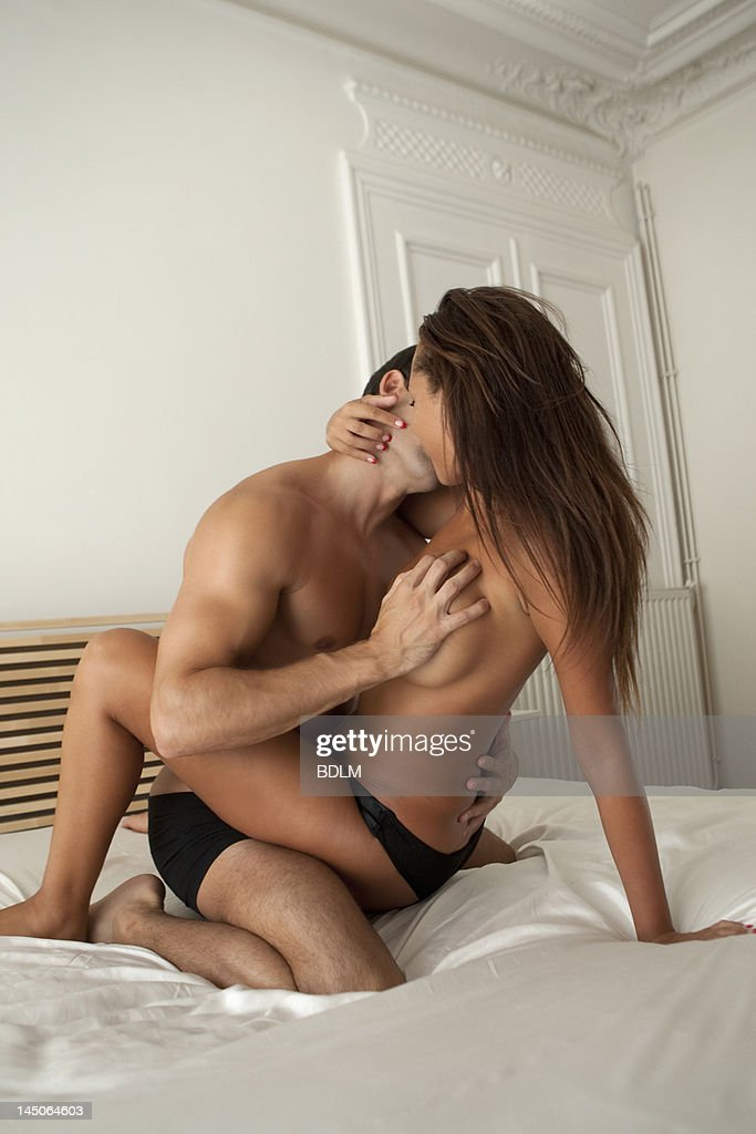 Nude Couple Kissing In Bed Stock Photo  Getty Images-5672