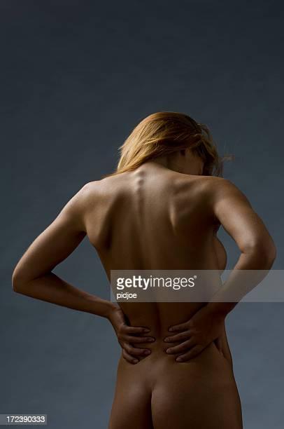 Nackte weibliche Rücken