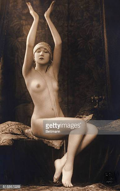Nude girl from French post card