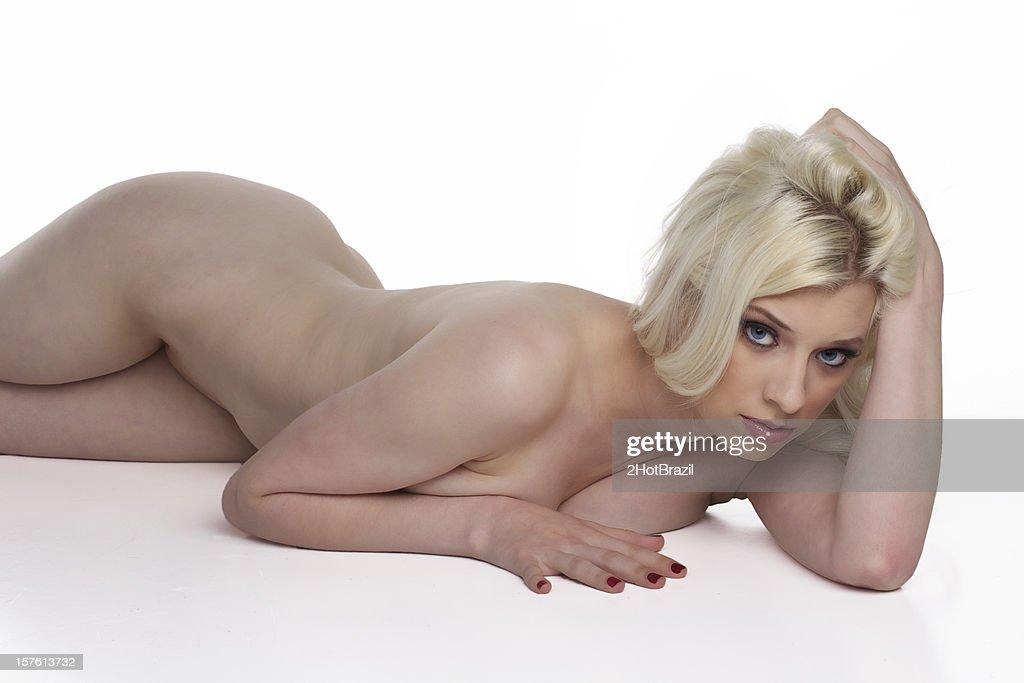 Nude girl laying down