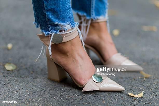 Nude heels on July 18 2016 in Berlin Germany