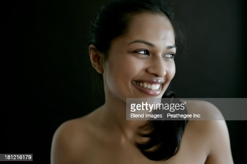 Nude Indian Woman Smiling High-Res Stock Photo - Getty Images-8749