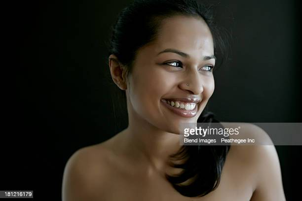 Nude Indian woman smiling