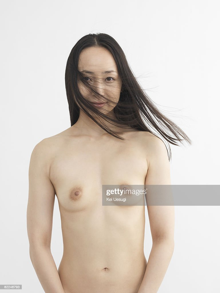 Nude Japanese woman, looking at the camera : Stock Photo