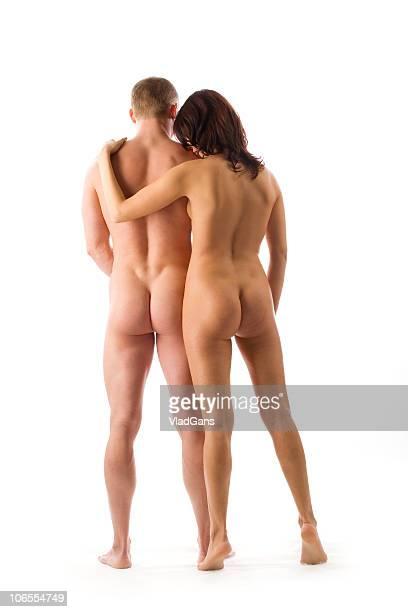 los amantes de la carne en blanco - abrazo desnudos fotografías e imágenes de stock