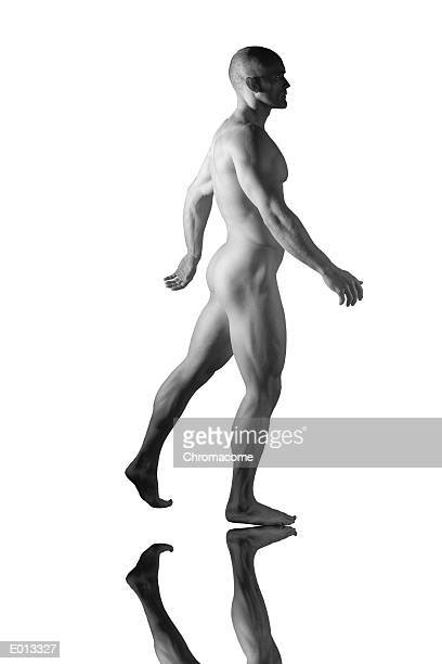 Nude male in stance