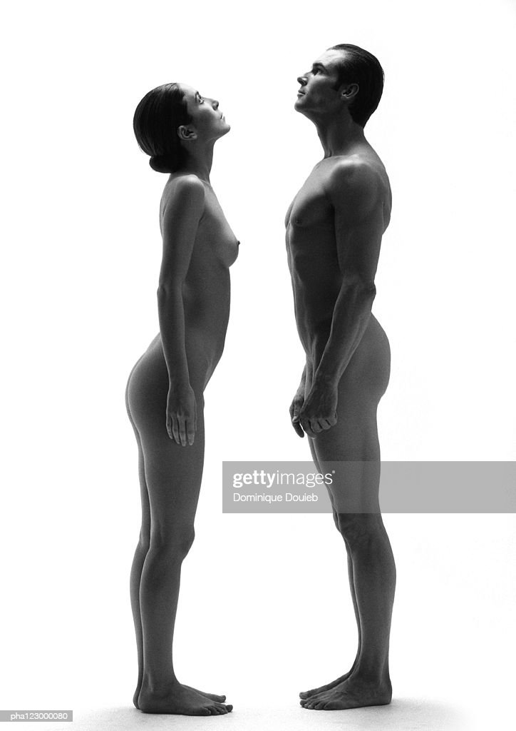 SUE: Nude man woman standing next to each other