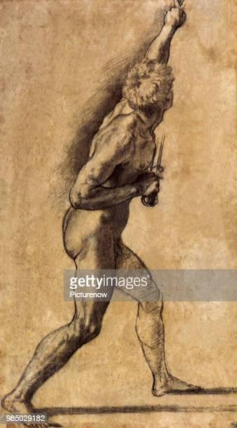 Nude Man with Swords Raphael Raffaello S