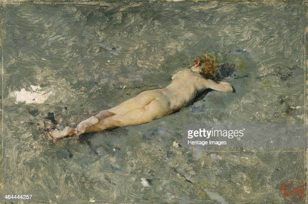 Nude on the Beach at Portici 1874 Found in the collection of the Museo del Prado Madrid
